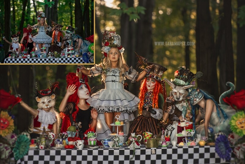 The Tea Party Painterly Editing and Compositing Photoshop Tutorial by Tara Mapes - Alice in Wonderland Inspired