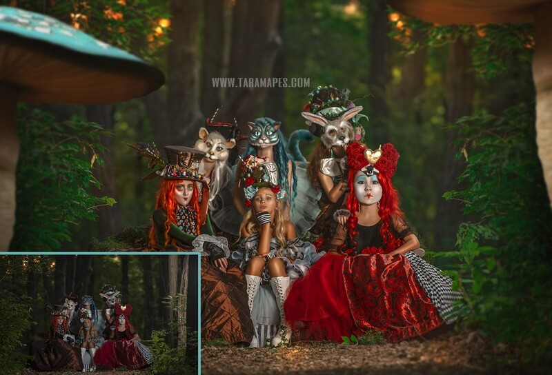 The Wonderland Gang Painterly Editing and Compositing Photoshop Tutorial by Tara Mapes - Alice in Wonderland Inspired