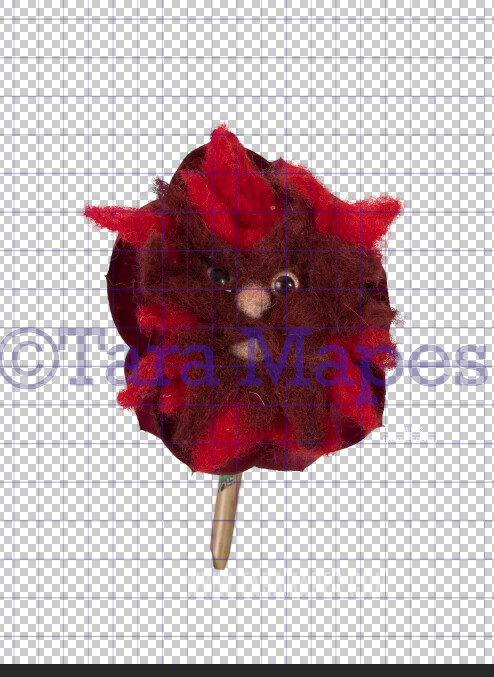 Talking Flower-  Red Mad Flower with Funny Face- Flower Overlay by Tara Mapes - Alice in Wonderland Inspired PNG - Digital Overlays by Tara Mapes Enchanted Eye Creations