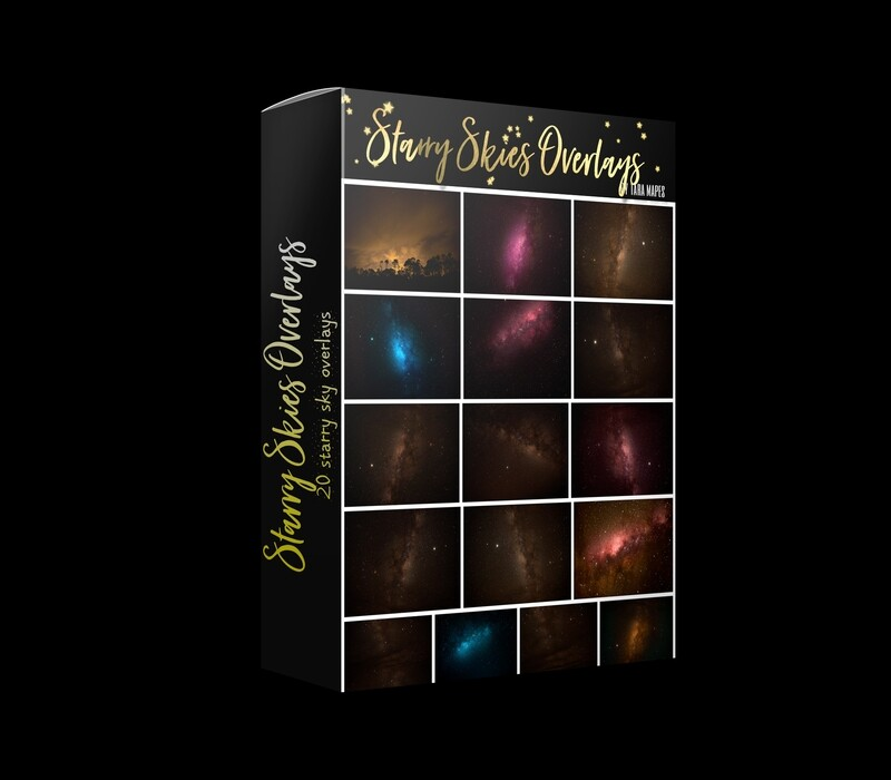STARRY SKIES 20 Night Sky Milky Way Star Sky Overlays Digital Background Backdrop