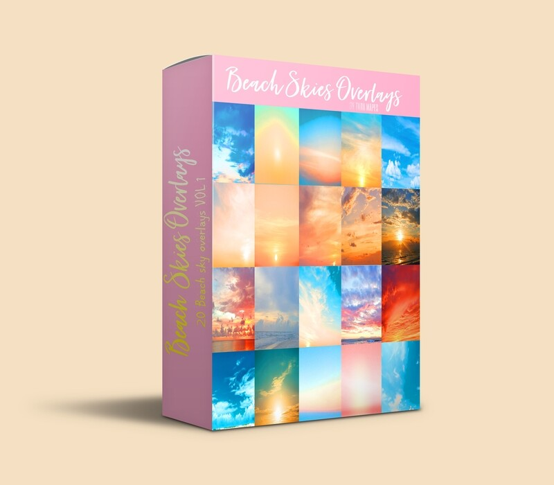 BEACH SKIES 20 Beach Sky Overlays Digital Background Backdrop