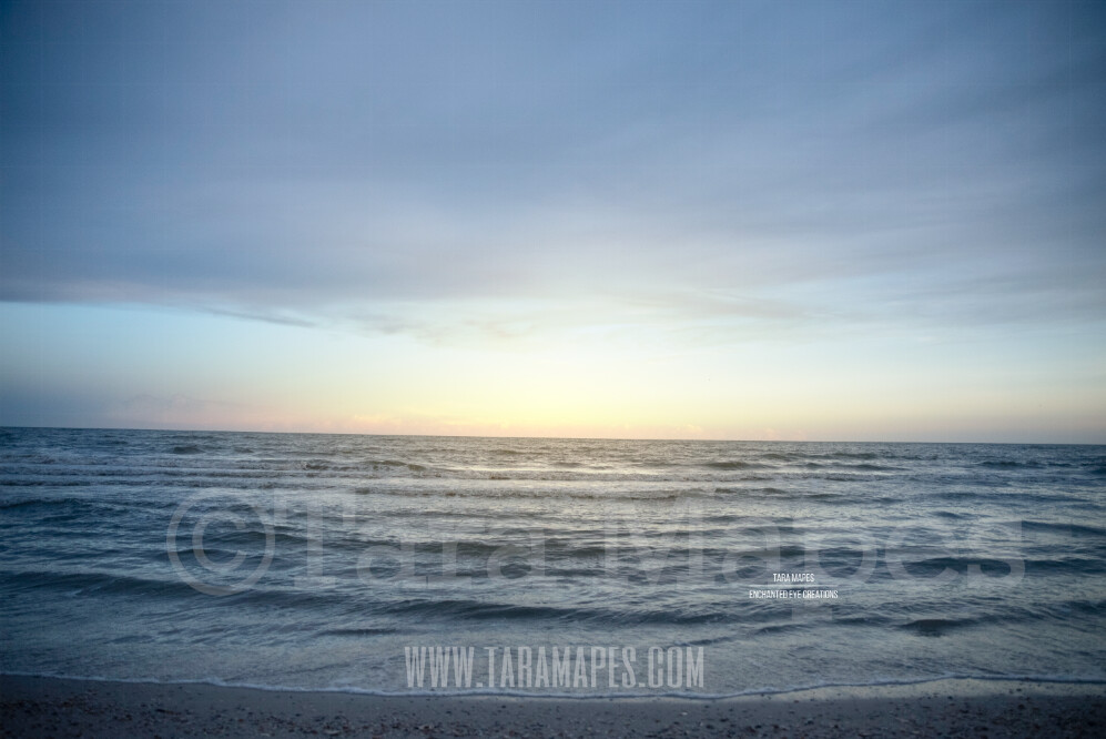 Beach Scene 5 - Beach Cape Bay - Ocean Pier - Pastel Beach Scene - Digital Background Backdrop