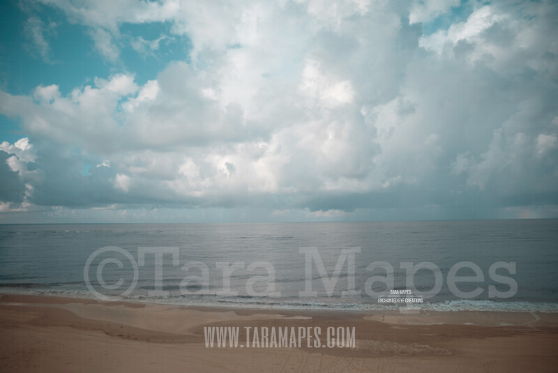 Beach Scene 9  - Beach Cape Bay - Ocean Pier - Pastel Beach Scene - Digital Background Backdrop