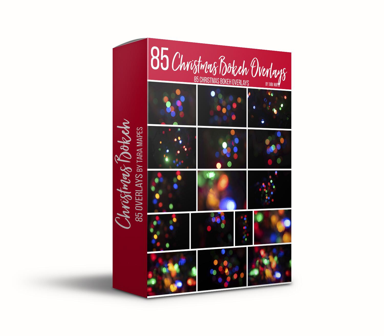 85 Christmas Bokeh Overlays - Light Overlays - Christmas Light Overlays