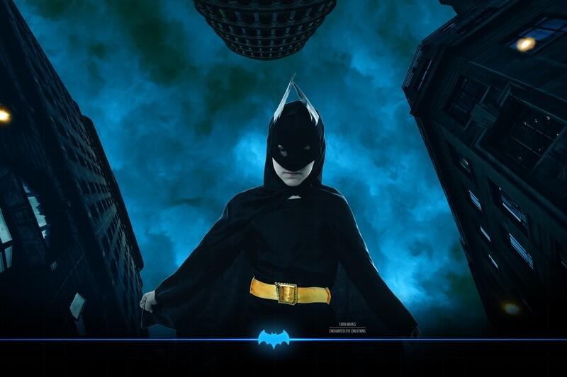 Batman Superhero City Digital Background Backdrop