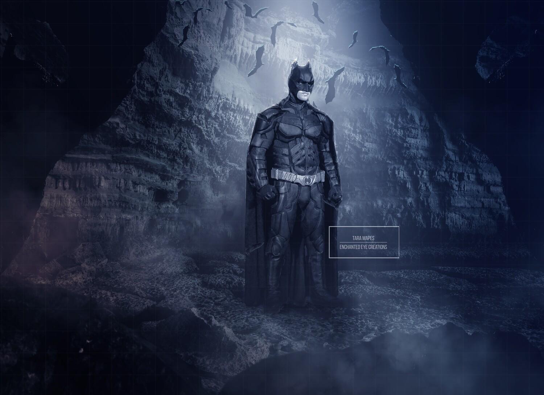 Batman Superhero Cave Digital Background Backdrop