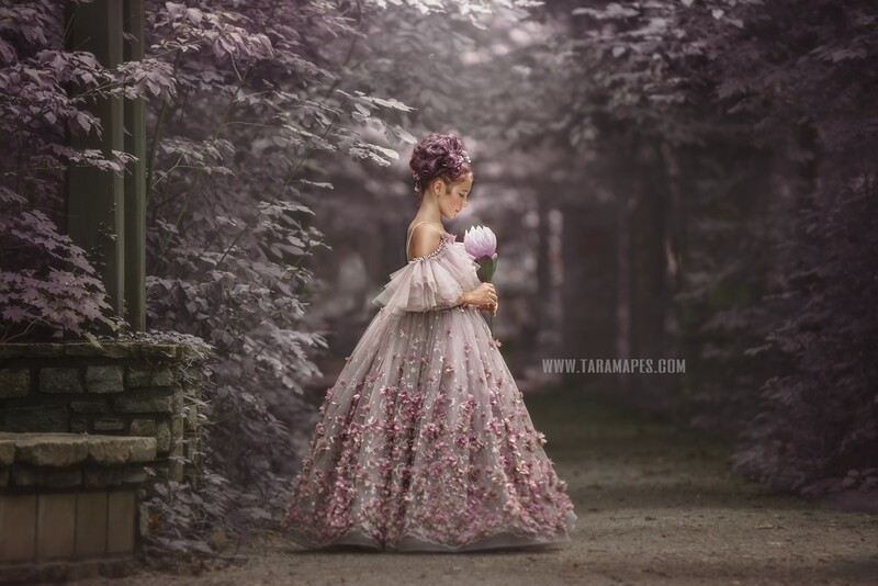 Purple Path - Whimsical Lavender Path - Purple Dreamy Creamy Path - Digital Background by Tara Mapes