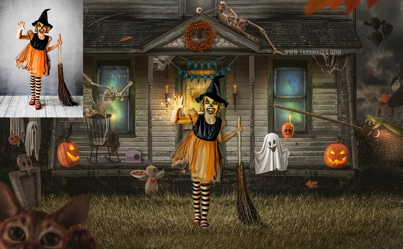 The Haunted House Painterly Fine Art Photoshop Tutorial by Tara Mapes