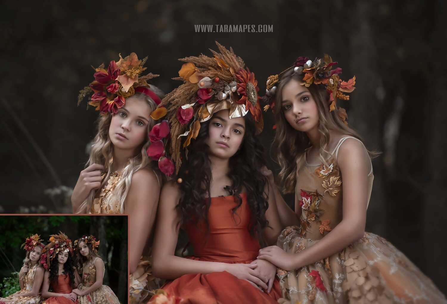 Autumn's Daughters- Fine Art Painterly Photoshop Tutorial - PAINTED SKIN ACTION SET INCLUDED- Fine Art Tutorial by Tara Mapes