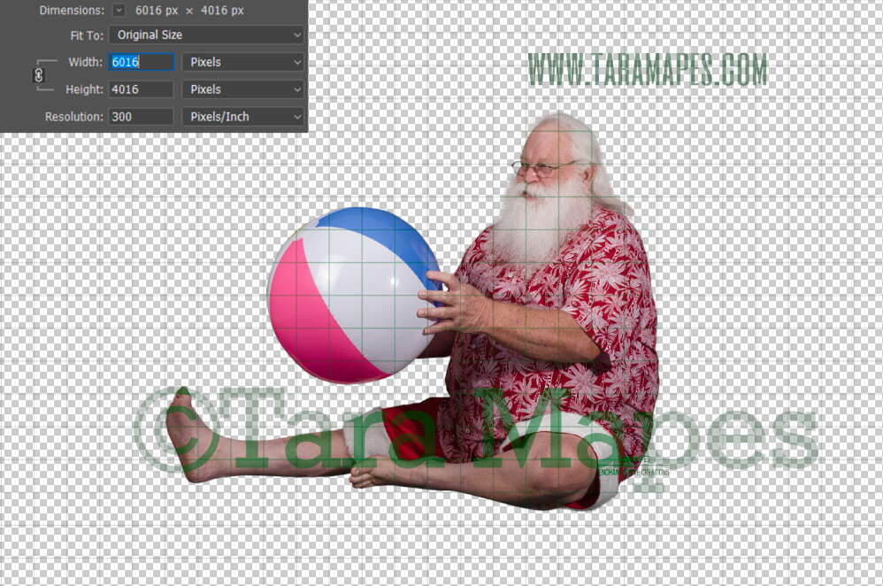 Beach Santa Overlay PNG - Santa Overlay - Santa Clip Art - Santa Cut Out  - Christmas Overlay - Santa PNG - Christmas Overlay
