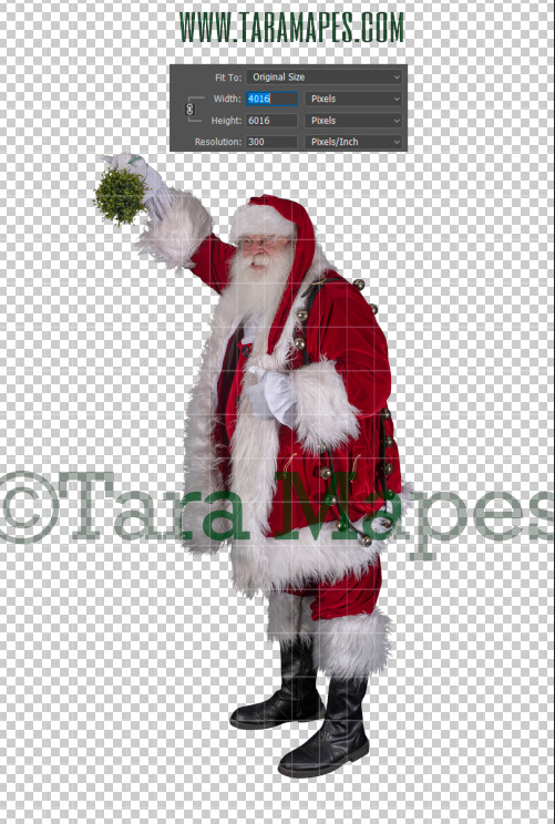 Santa Overlay Mistletoe PNG - Santa Overlay - Santa Clip Art - Santa Cut Out  - Christmas Overlay - Santa PNG - Christmas Overlay