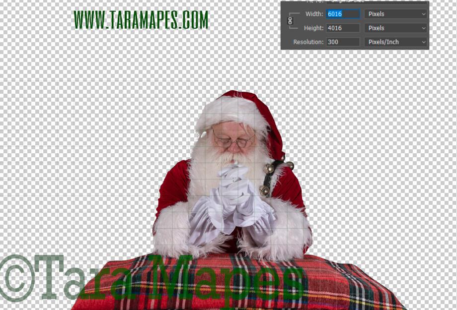 Santa Overlay PNG - Santa Overlay Praying - Santa Clip Art - Santa Cut Out  - Christmas Overlay - Santa PNG - Christmas Overlay