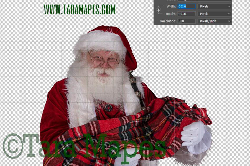 TWO PACK Santa Overlay PNG - Santa Overlay with Newborn - Santa Clip Art - Santa Cut Out  - Christmas Overlay - Santa PNG - Christmas Overlay