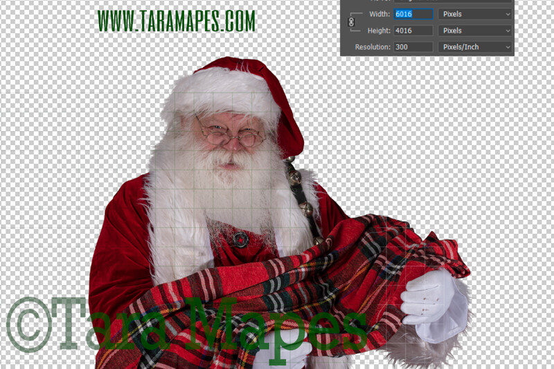 TWO PACK Santa Overlay PNG - Santa Overlay with Newborn - Santa Clip Art - Santa Cut Out  - Christmas Overlay - Santa PNG - Christmas Overlay