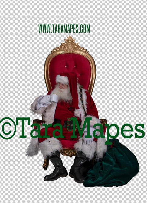Santa Overlay PNG - Santa on Throne Overlay - Santa Clip Art - Santa Cut Out  - Christmas Overlay - Santa PNG - Christmas Overlay