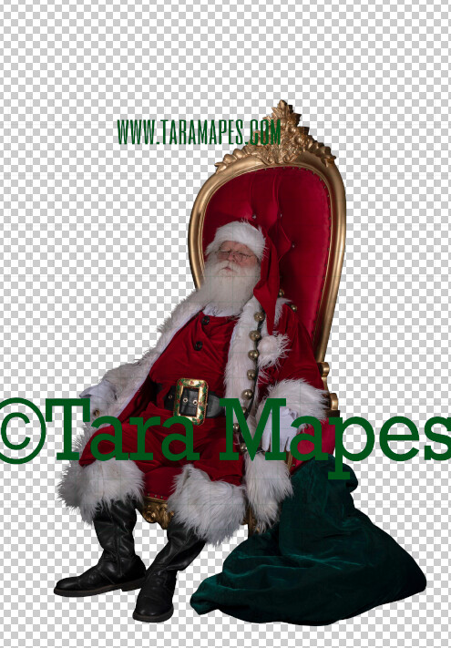 Santa Overlay PNG - Santa on Throne Overlay - Santa Clip Art - Santa Cut Out  - Christmas Overlay - Santa PNG - Christmas Overlay