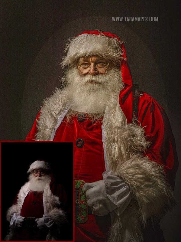 Fine Art Santa Painterly Photoshop Tutorial by Tara Mapes NO ACTIONS NEEDED