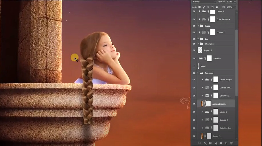 Free Photoshop Tutorial: How to create a Rapunzel braid in Photoshop