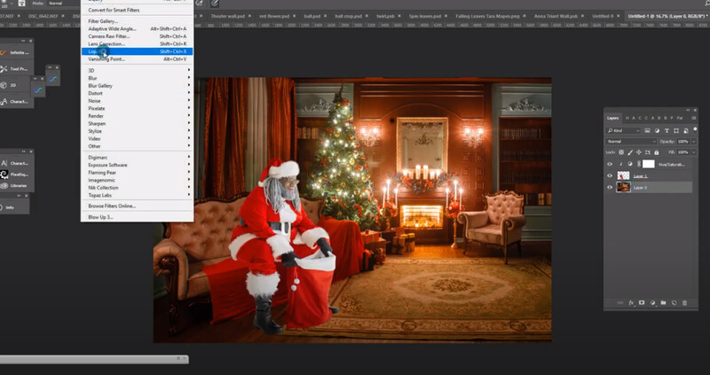 Free Photoshop Tutorial: How to use LIquify and Shadows to Make Someone Look Like They're Sitting on a Couch