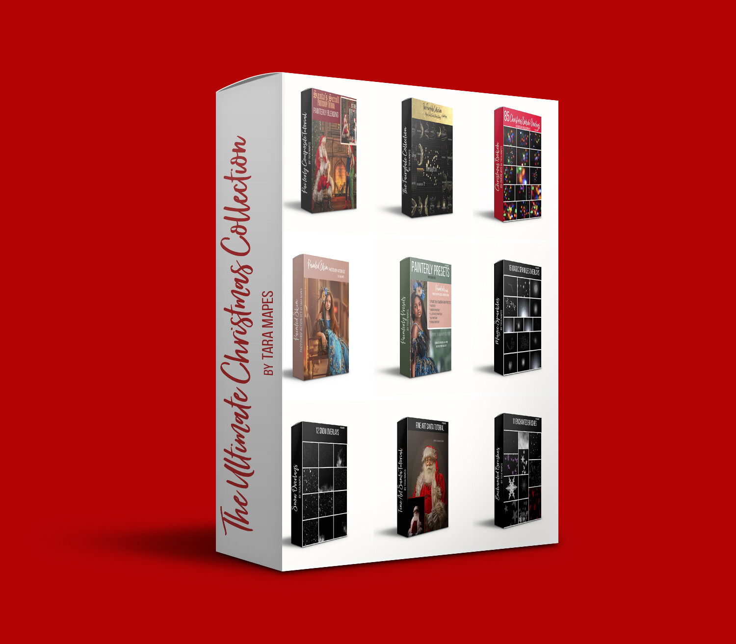 The Ultimate Christmas Collection by Tara Mapes -  Tutorials - Full Action Workflows - Overlays - Presets - A Fine Art Christmas