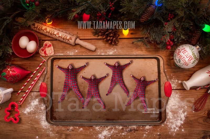 Christmas Cookies Pan Christmas Digital Background for Kids on Cookie Pan  - Christmas Card -  Christmas Cookie  - Christmas Digital Background