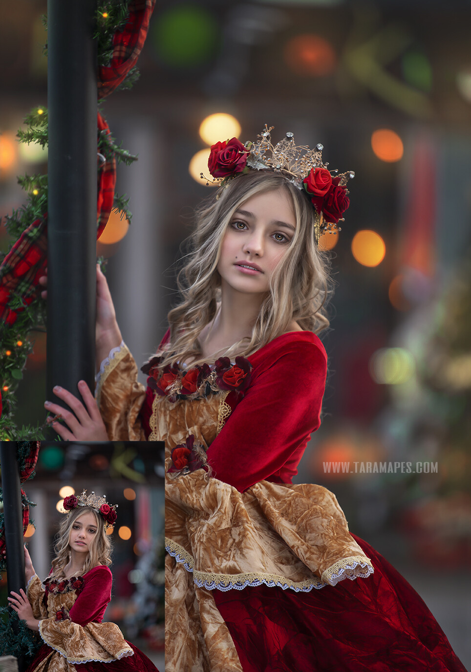 Christmas Belle- Fine Art Painterly Photoshop Tutorial - PAINTED SKIN ACTION SET INCLUDED- Fine Art Tutorial by Tara Mapes