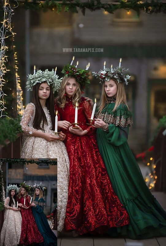 The Carolers  Fine Art Painterly Photoshop Tutorial - PAINTED SKIN ACTION SET INCLUDED- Fine Art Tutorial by Tara Mapes