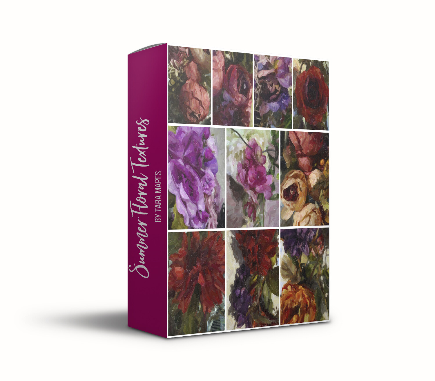 Summer Floral Collection 1 Fine Art 10 Texture Overlays - Oil Paint Floral Textures Photoshop Overlays by Tara Mapes
