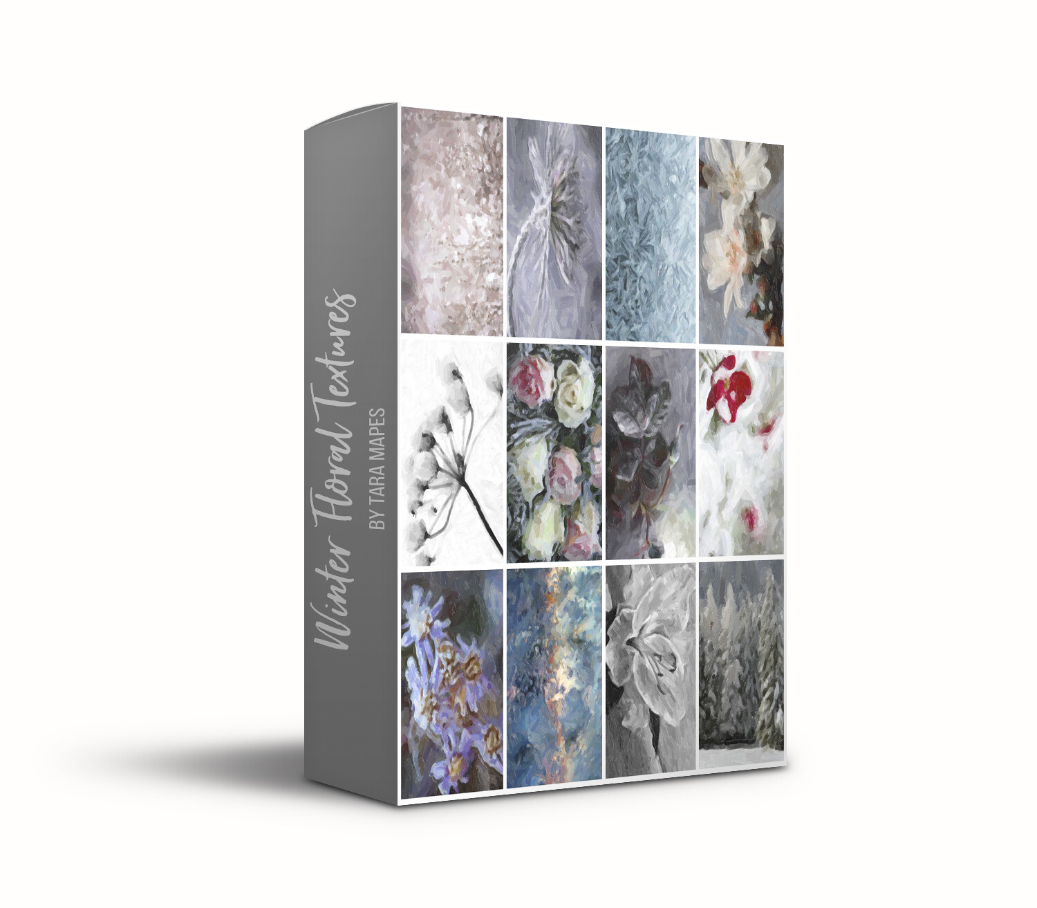 Winter Floral Collection 1 Fine Art 12 Texture Overlays - Oil Paint Floral Textures Photoshop Overlays by Tara Mapes