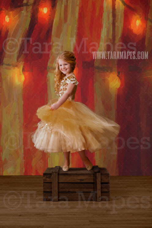 Red and White Striped Circus Tent with Lights Studio Digital Background - Carnival Digital Backdrop in Studio - Magical- Birthday -Digital Background / Backdrop