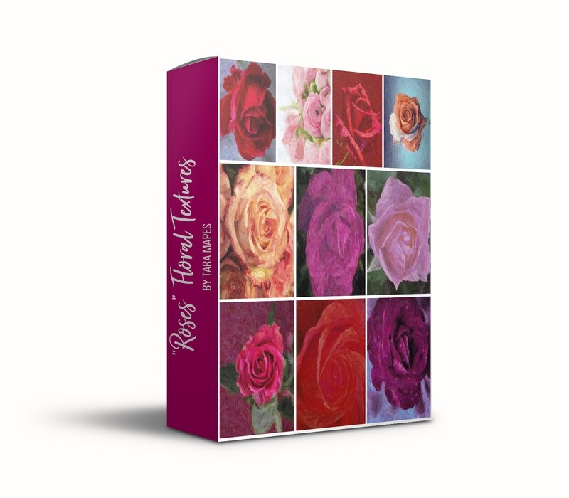 """""""Roses"""" Floral Collection Fine Art Texture Overlays - 10 Digital Painted Floral Textures -  Photoshop Overlays by Tara Mapes"""