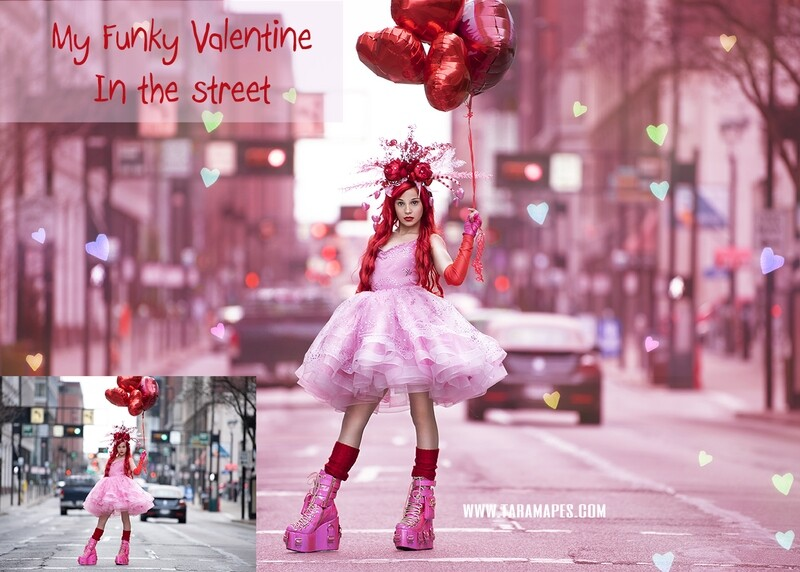 Funky Valentine in the Street Painterly Tutorial - Valentine Shoot - - Photoshop Workflow Action Set Included- Fine Art Tutorial by Tara Mapes