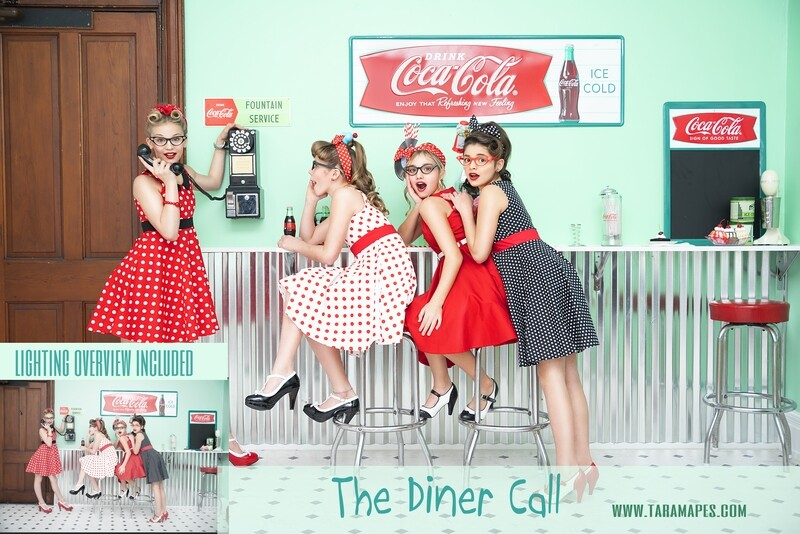 The Diner Painterly Tutorial - Fifties Theme - Photoshop Workflow Action Set Included- Fine Art Tutorial by Tara Mapes