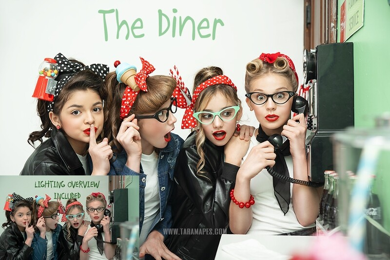 The Diner Fifties Theme Painterly TUTORIAL ONLY- Fine Art Tutorial by Tara Mapes. FINE ART STARTER PACK REQUIRED