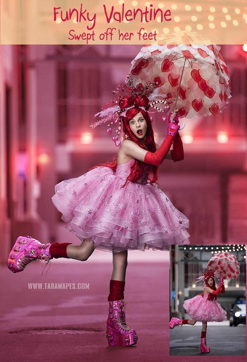 Funky Valentine  Sweep Me Off My Feet - Painterly Tutorial - Valentine Shoot - - Photoshop Workflow Action Set Included- Fine Art Tutorial by Tara Mapes