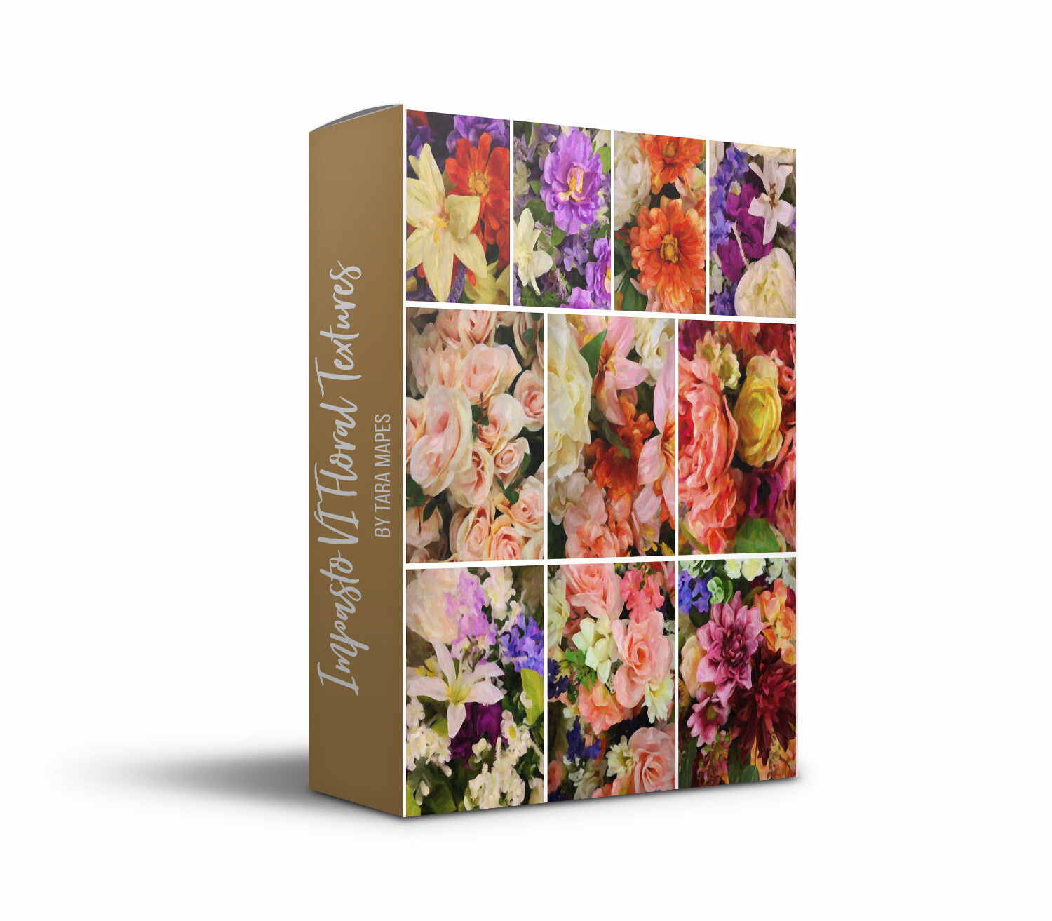 Impasto Set VI Floral Collection Fine Art Texture Overlays - 10 Digital Painted Floral Textures -  Photoshop Overlays by Tara Mapes