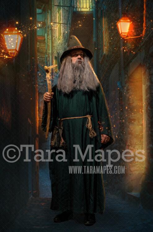 Dark Alley - Magic Alley - Wizard Alley - Digital Background / Backdrop