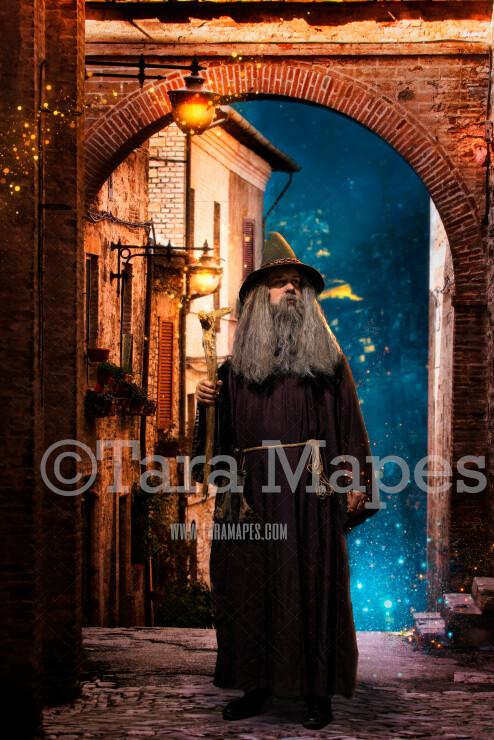 Dark Alley - Magic Alley - Wizard Alley 2 - Digital Background / Backdrop