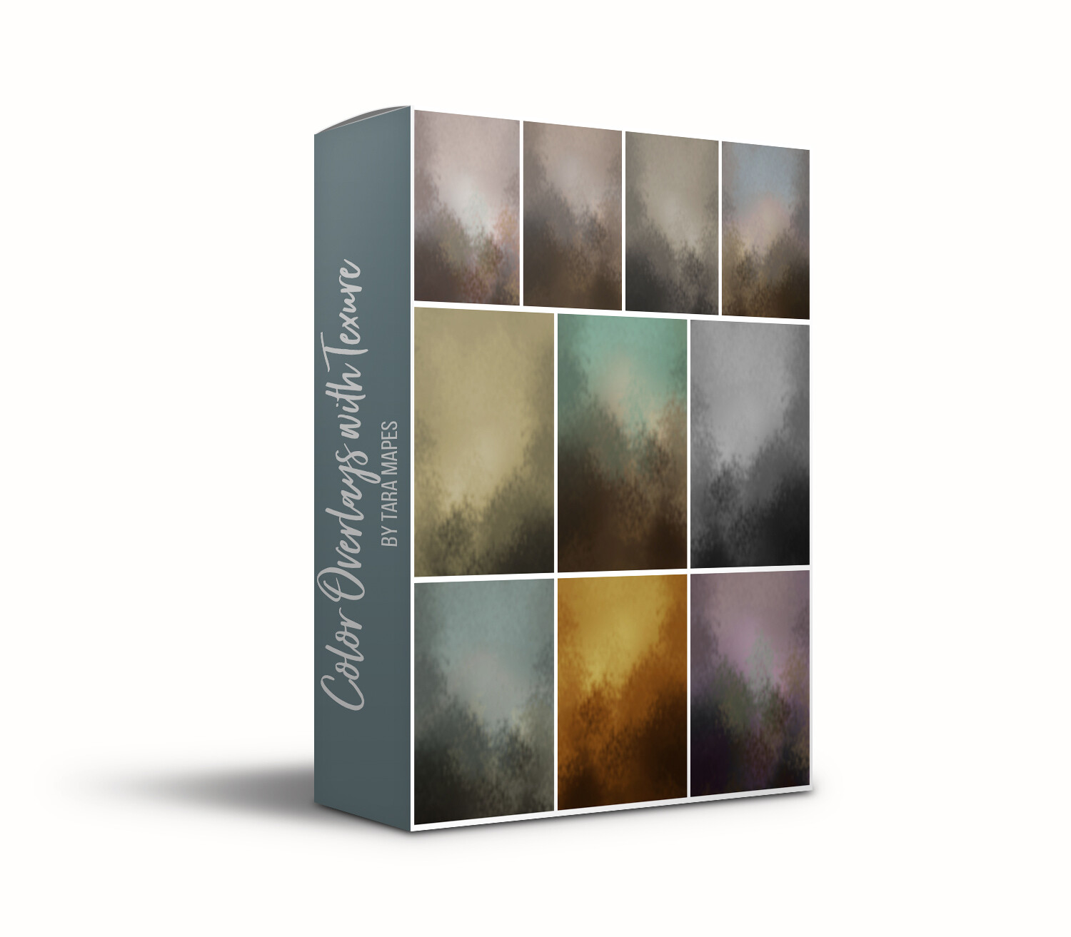 Blurred Color Fine Art Texture Overlays - 10 Digitally Painted Color Textures -  Photoshop Overlays by Tara Mapes