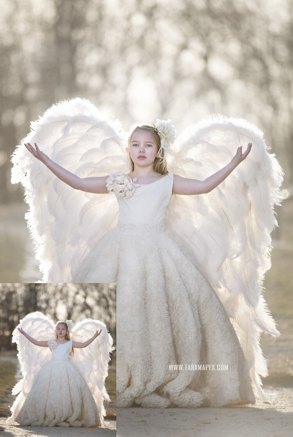 Little Angel - Photoshop Workflow Action Set Included- Fine Art Tutorial by Tara Mapes