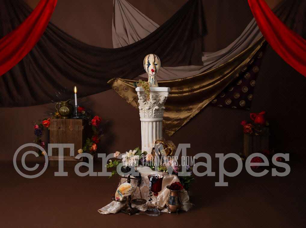 Mardi Gras Studio 3 - Colorful Fine Art Digital Background by Tara Mapes