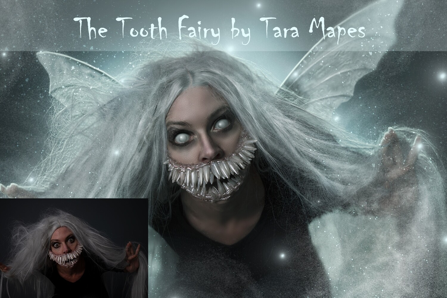 The Tooth Fairy Photoshop Tutorial - Fine Art Facial Action Workflow Set Included- Fine Art Painterly Surreal Tutorial by Tara Mapes