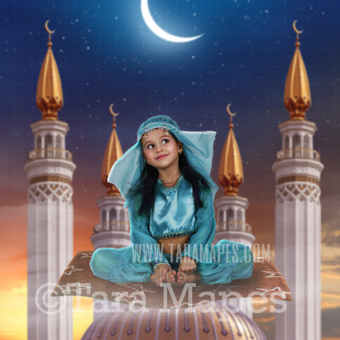 Magic Carpet - Magic flying carpet - Arabian Flying Rug - Digital Background / Backdrop