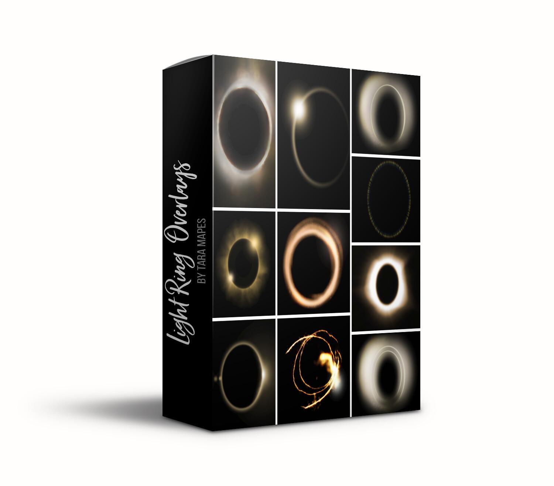 10 Light Ring Overlays - 10 Light Flare Overlays Tara Mapes
