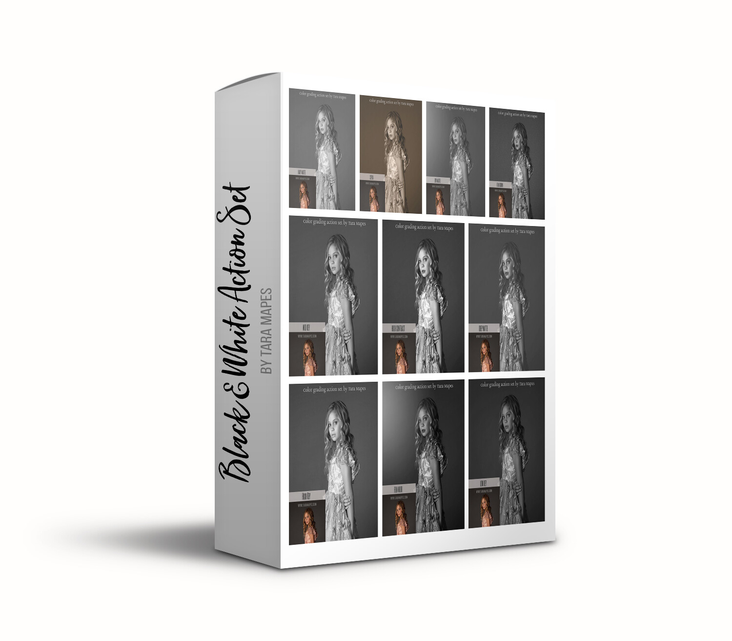 Black and White Photoshop Action Set by Tara Mapes -  Turn Your Photos into Black and White Masterpieces - Photoshop Action Set by Tara Mapes