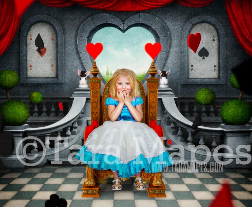 Alice in Wonderland Throne - Alice's Wonderland Throne in Wonderland  - JPG file Digital Background Backdrop