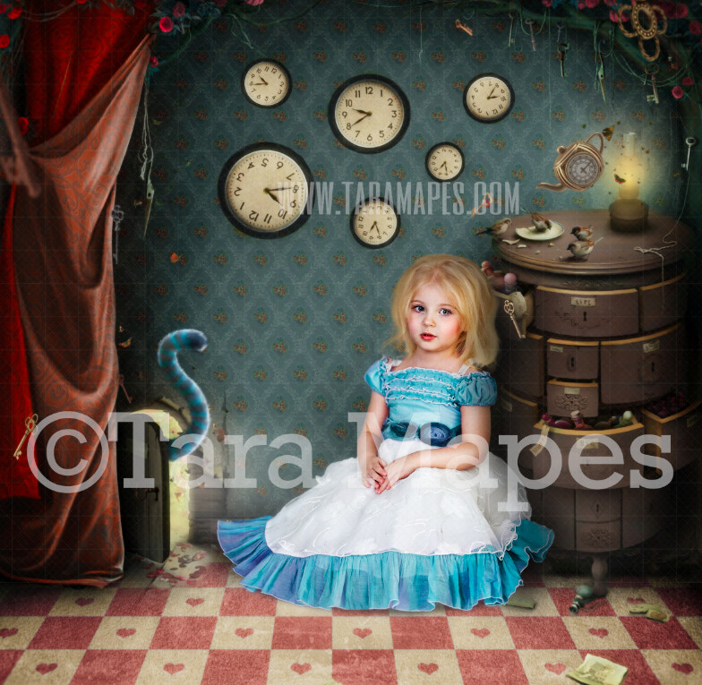 Alice Wonderland Little Door - Wonderland Tiny Door to Wonderland  - JPG file Digital Background Backdrop