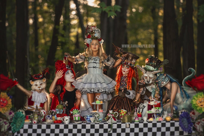 The Wonderland Pack by Tara Mapes - Alice in Wonderland Digital Backgrounds and Overlays