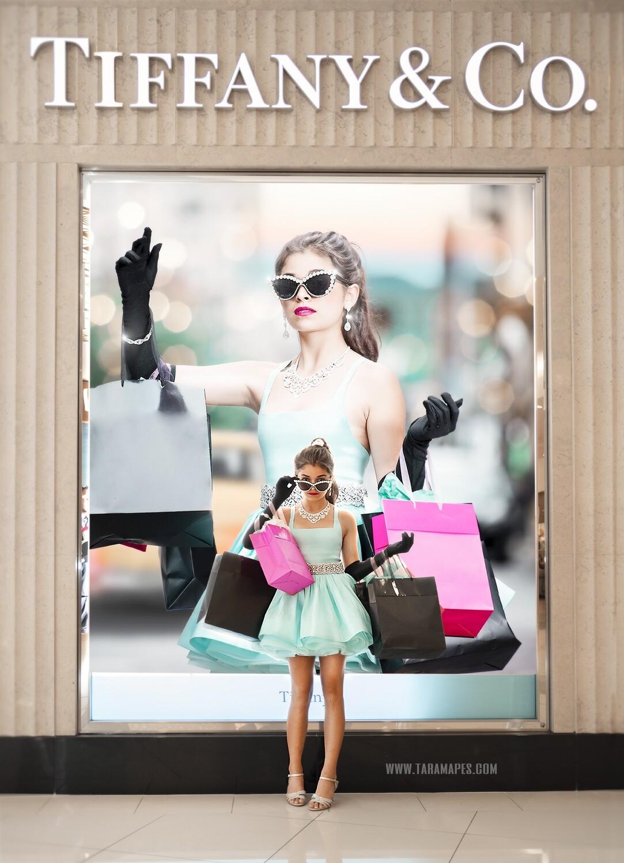 Tiffany Frame - Model Frame- Fashion Frame - Layered PSD Fashion Digital Background Backdrop -