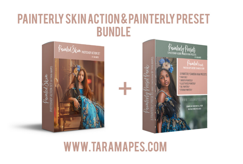 PAINTERLY ACTION & PRESET PACK - Painterly Skin Action and Painterly Preset BUNDLE - Painterly Skin Photoshop Action Set AND Adobe Painterly Presets